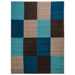 Cheviot Handmade Flatweave Blue Indoor/Outdoor Rug by Longweave