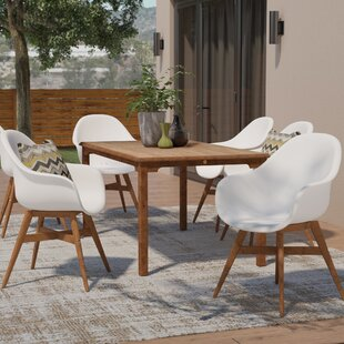 Mercury Row Alshain Teak 7 Piece Dining Set