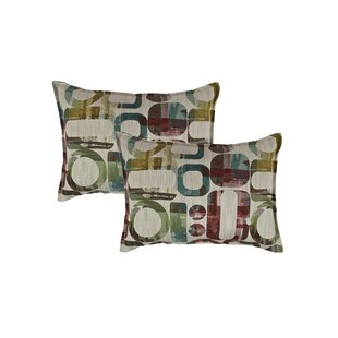 Metropolis Reversible Decorative Lumbar Pillow (Set of 2)