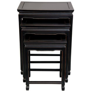 Oriental Furniture 3 Piece Nesting Tables