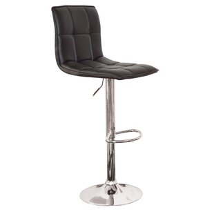 Madyson Adjustable Height Swivel Bar Stool (Set of 2)