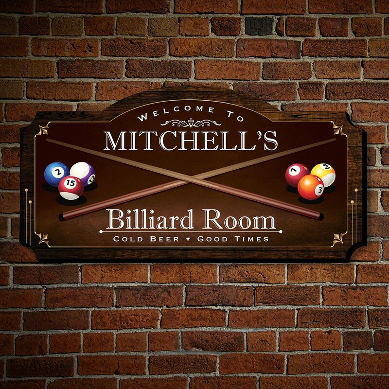 Winston Porter Swineford Billiard Room Personalized Wood ...
