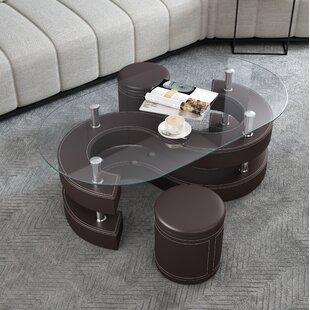 Coffee Tables With Ottoman Underneath Wayfair