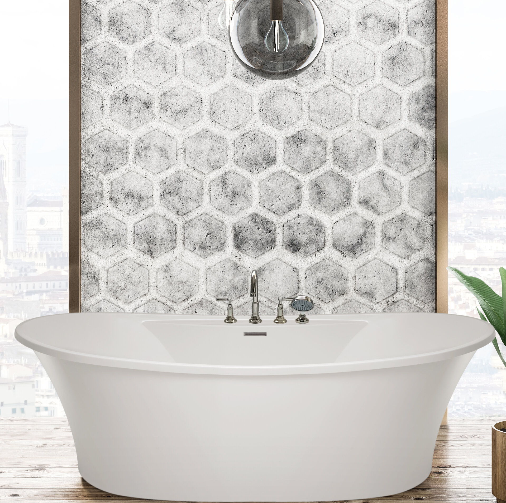 Picture of: Hydro Systems Breanne 66 X 36 Freestanding Soaking Bathtub Wayfair