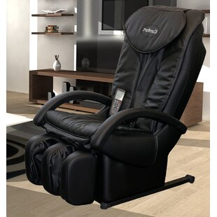 iComfort Faux Leather Reclining Massage Chair with Ottoman