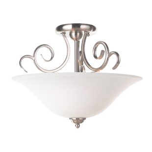 Hollingshead 3-Light Semi-Flush Mount by Alcott Hill