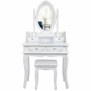 Homedale Dressing Table Set With Mirror By Lily Manor