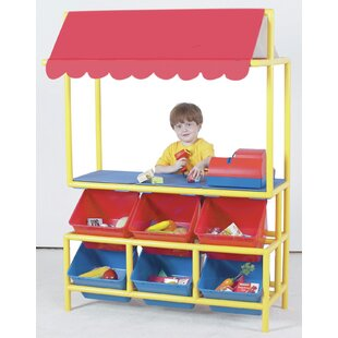 Affordable Price Market Stall 6 Compartment Cubby with Bins ByChildren's Factory