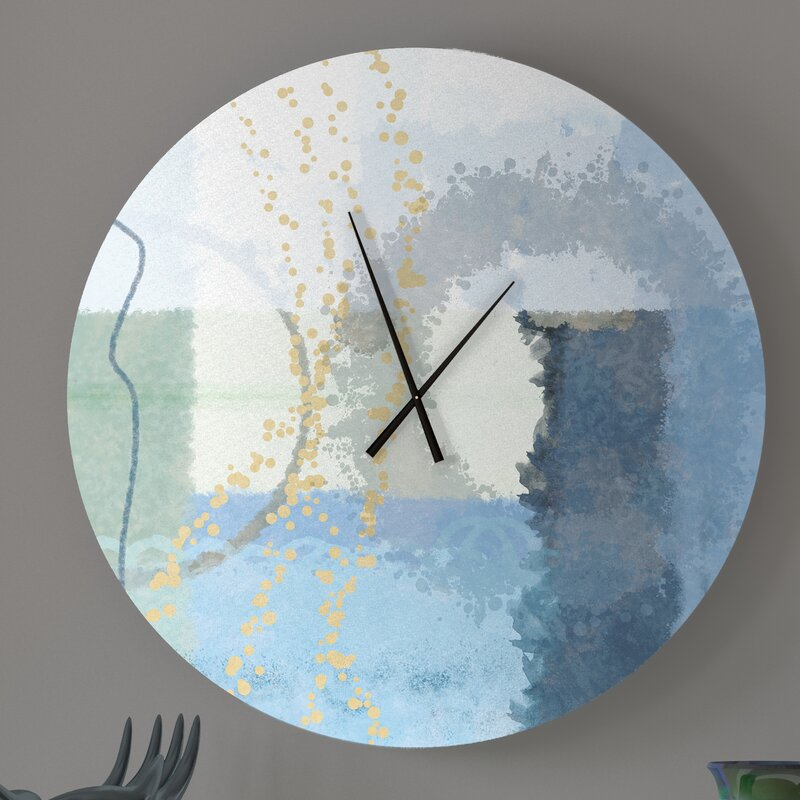 Ebern Designs Optimum Irrepressible Abstract Metal Wall Clock Wayfair