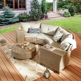 Rosalia 7 Piece Rattan Sofa Seating Group with Cushions by Highland Dunes