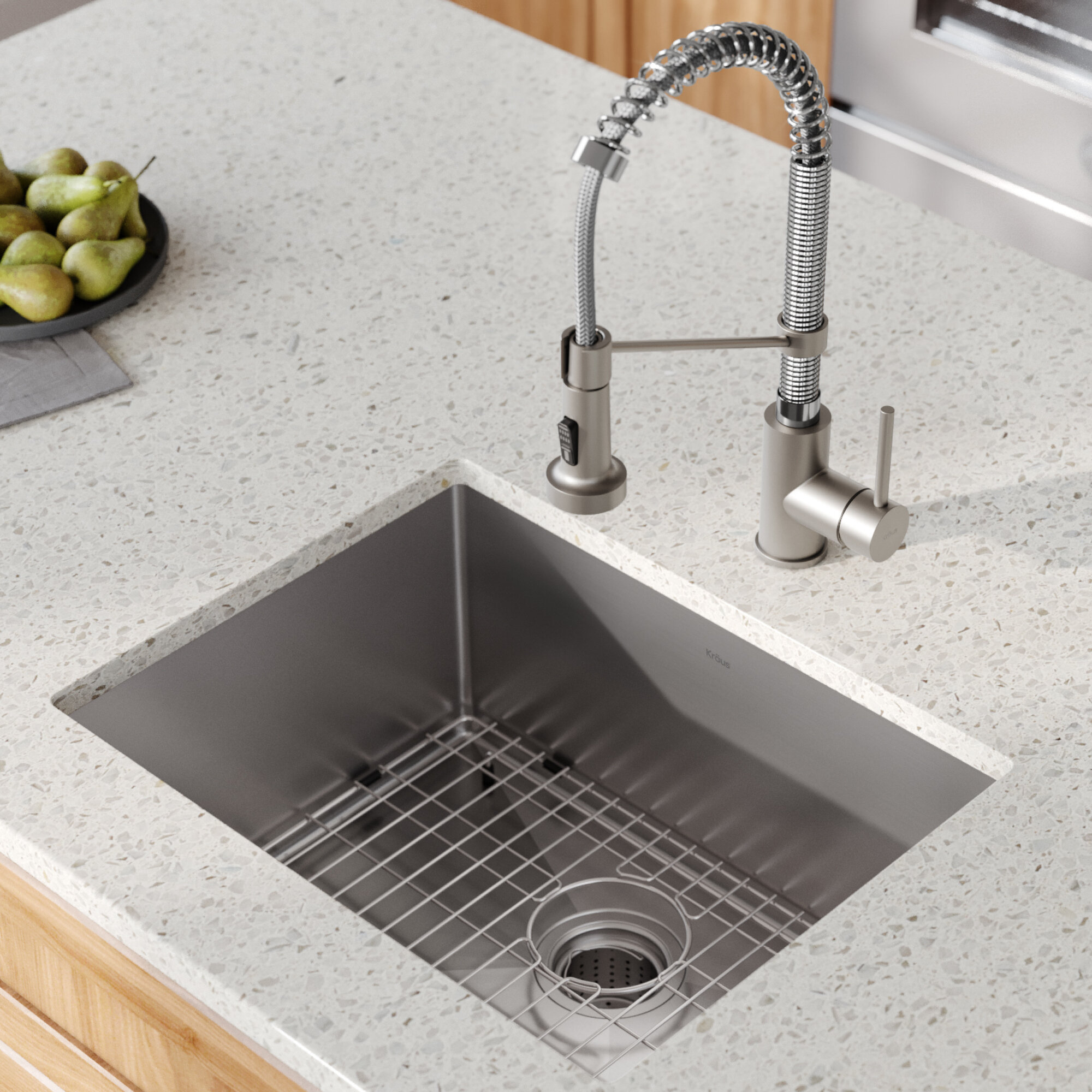 Kraus Standart Pro 23 L X 18 W Undermount Kitchen Sink With