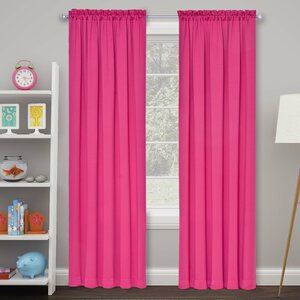 Cantor Solid Room Darkening Rod Pocket Curtain Panels (Set of 2)