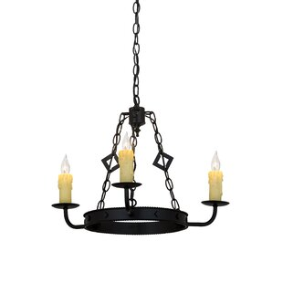 Elvita 3-Light Chandelier by Meyda Tiffany