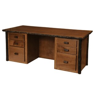 Hickory 6 Drawer Executive Desk
