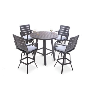 Moralez 5 Piece Bar Set with Cushions