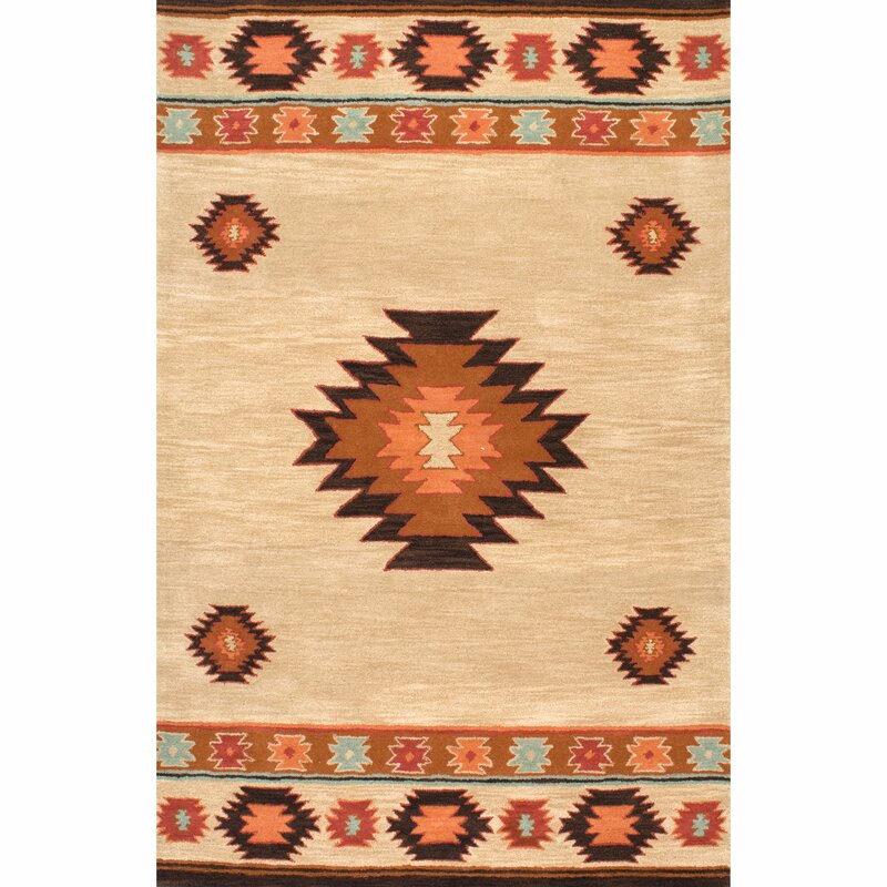 Union Rustic Claghorn Shyla Hand Tufted Wool Beige Rug Reviews Wayfair Co Uk