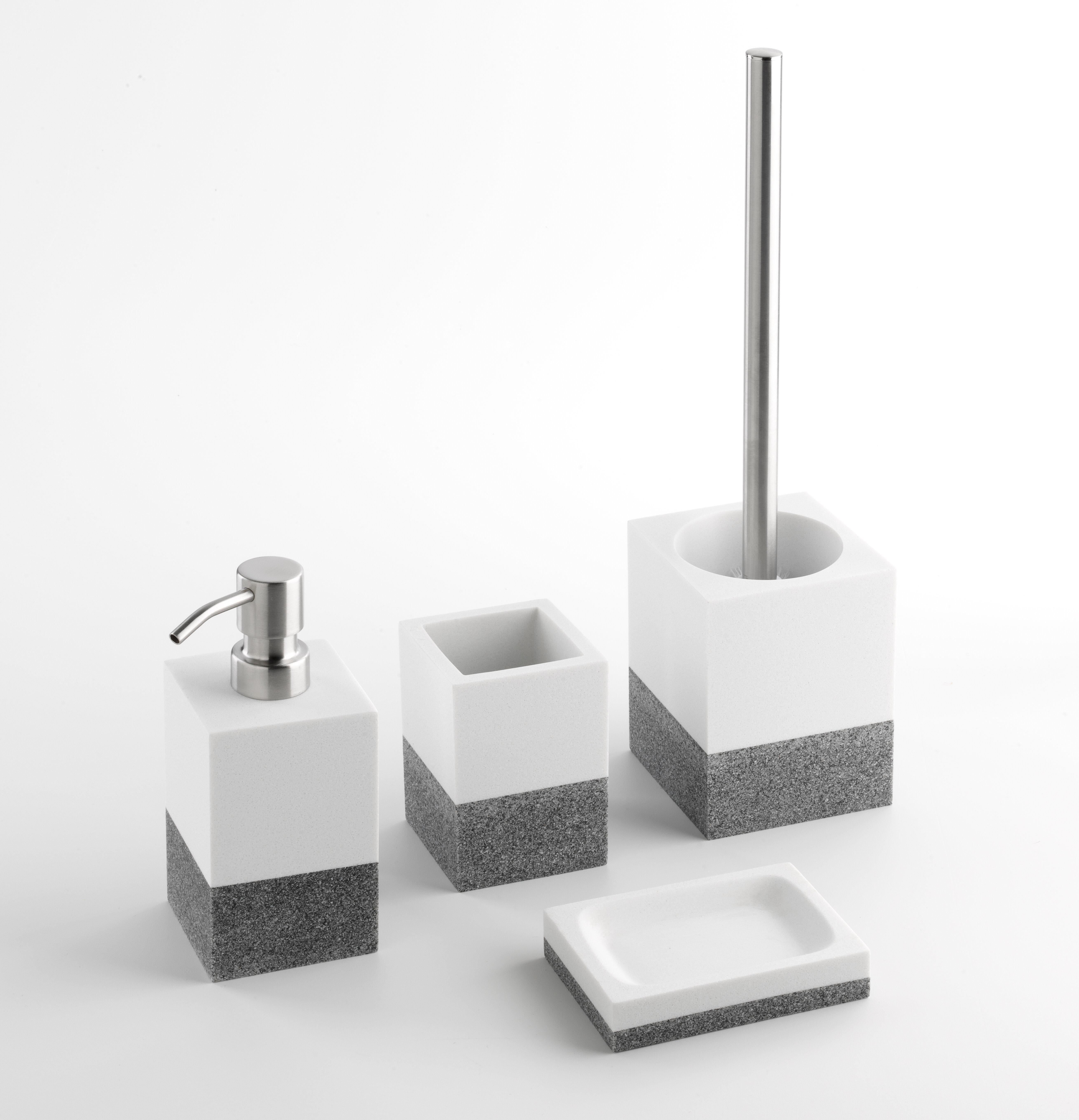 Brayden Studio Hirschman 4 Piece Bathroom Accessory Set Reviews Wayfair Co Uk