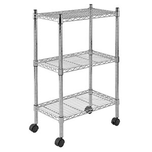 Mobile 3 Shelf Wire Shelving