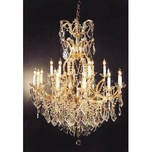Astoria Grand Alvarado 16-Light Gold Candle Style Chandelier