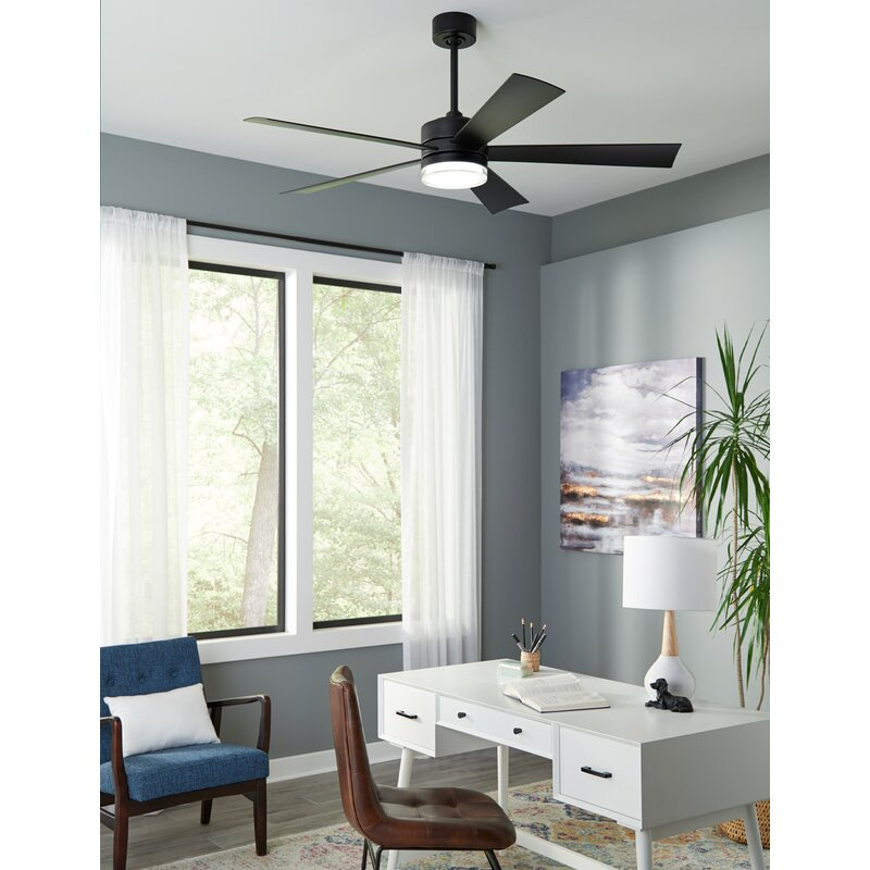 Modern Forms Wynd 5 Blade Outdoor Led Smart Standard Ceiling Fan With Wall Control And Light Kit Included Reviews Wayfair