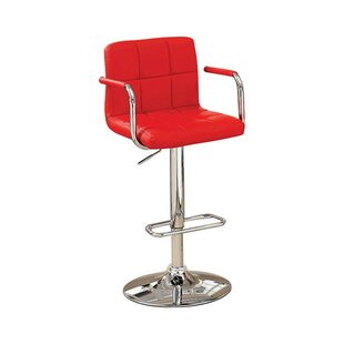 Price comparison Mendon Adjustable Height Swivel Bar Stool by Orren Ellis Reviews (2019) & Buyer's Guide