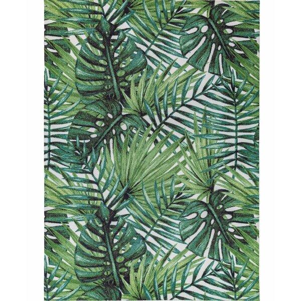 Bayou Breeze Antony Floral Green Indoor Outdoor Area Rug Wayfair