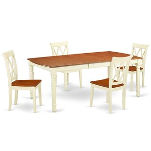 Lamanna 5 Piece Extendable Solid Wood Dining Set