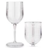 Bowry 12 oz. Plastic All Purpose Wine Glass by Winston Porter
