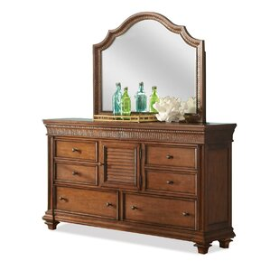 Leander 6 Drawer Combo Dresser with Mirror by World Menagerie