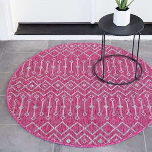 Avah Pink/Gray Indoor/Outdoor Area Rug