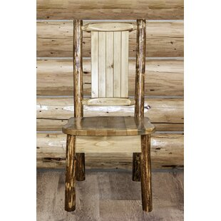 Tustin Engraved Wolf Side Chair
