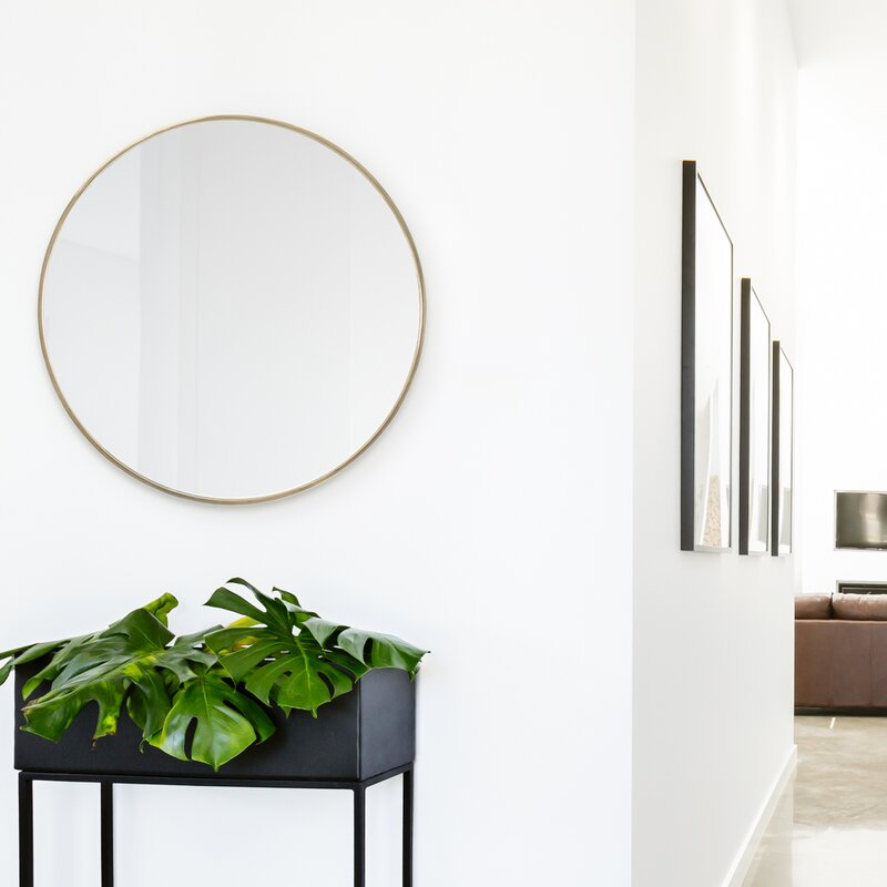 Gold Dyar Accent Mirror by Charlton Home