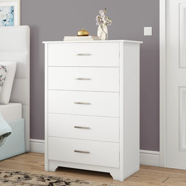 ASSEMBLED HANDMADE FLORIDA 5 CHEST OF DRAWERS IN WHITE