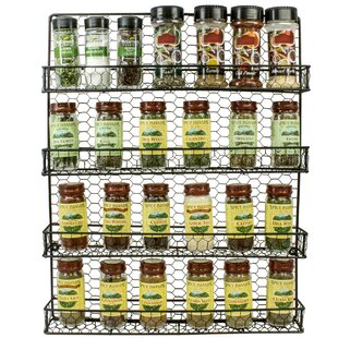 4 Tier Wall-Mounted Spice Rack