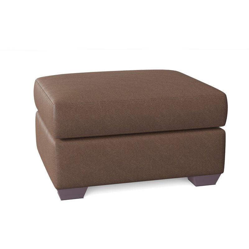 Wayfair Custom Upholstery Rachel 30 Genuine Leather Rectangle Ottoman Wayfair