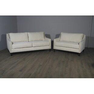 Orren Ellis Woodell Suede Configurable Living Room Set
