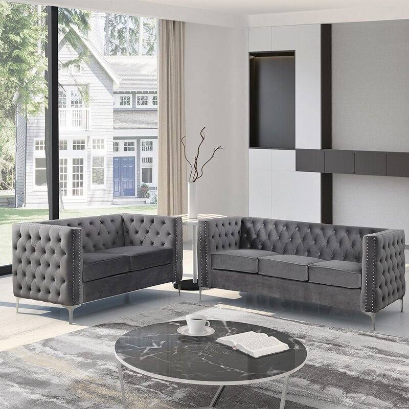 Etheredge 2 Piece Standard Living Room Set