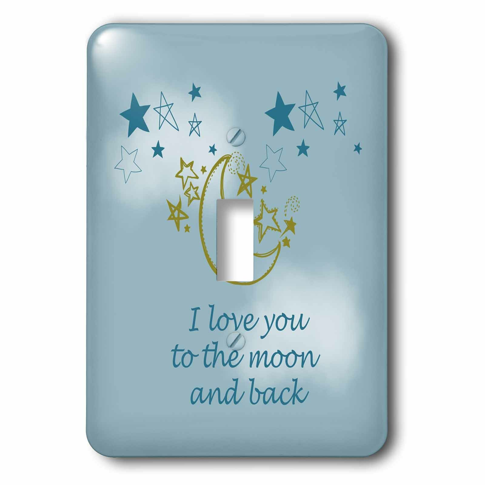 3drose To The Moon And Back 1 Gang Toggle Light Switch Wall Plate Wayfair