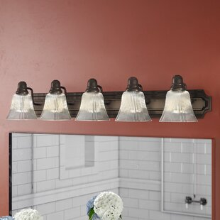 Buy clear Kincaid 5-Light Vanity Light By Winston Porter