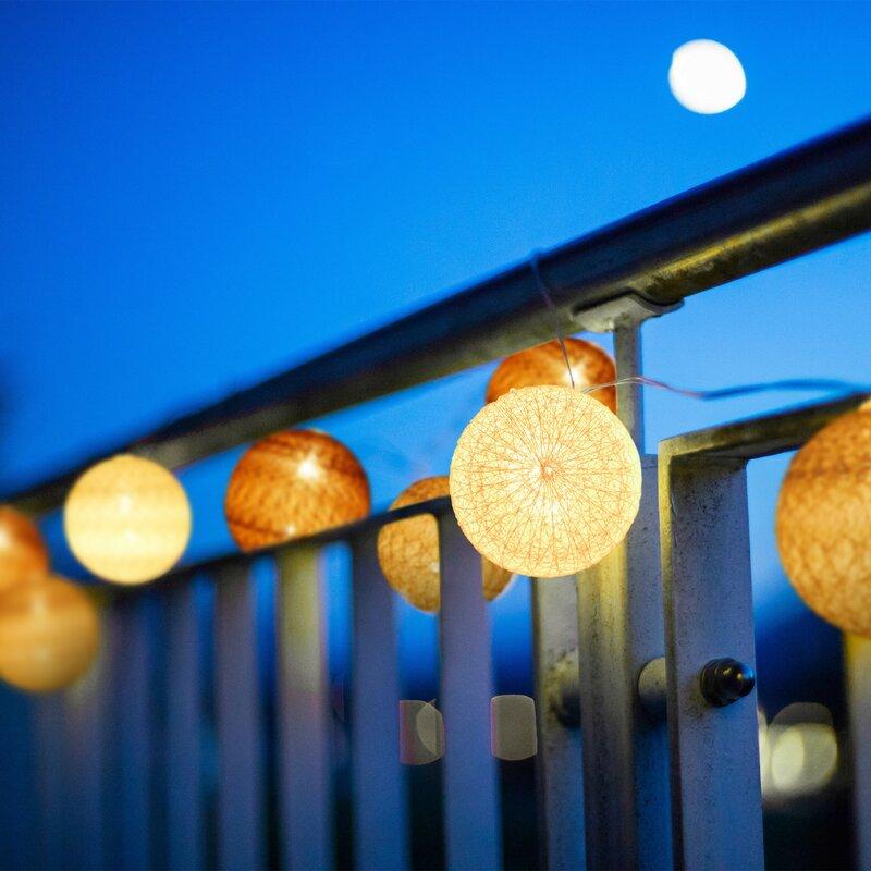 Hykkon LED Lichterkette Fitts mit 10 Kugeln