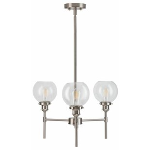 Mercury Row Dunneback 3-Light Shaded Chandelier