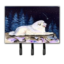 Starry Night Great Pyrenees Leash Holder and Key Holder by Caroline's Treasures