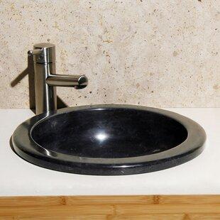 Best Lime Stone Circular Drop-In Bathroom Sink ByAllstone Group