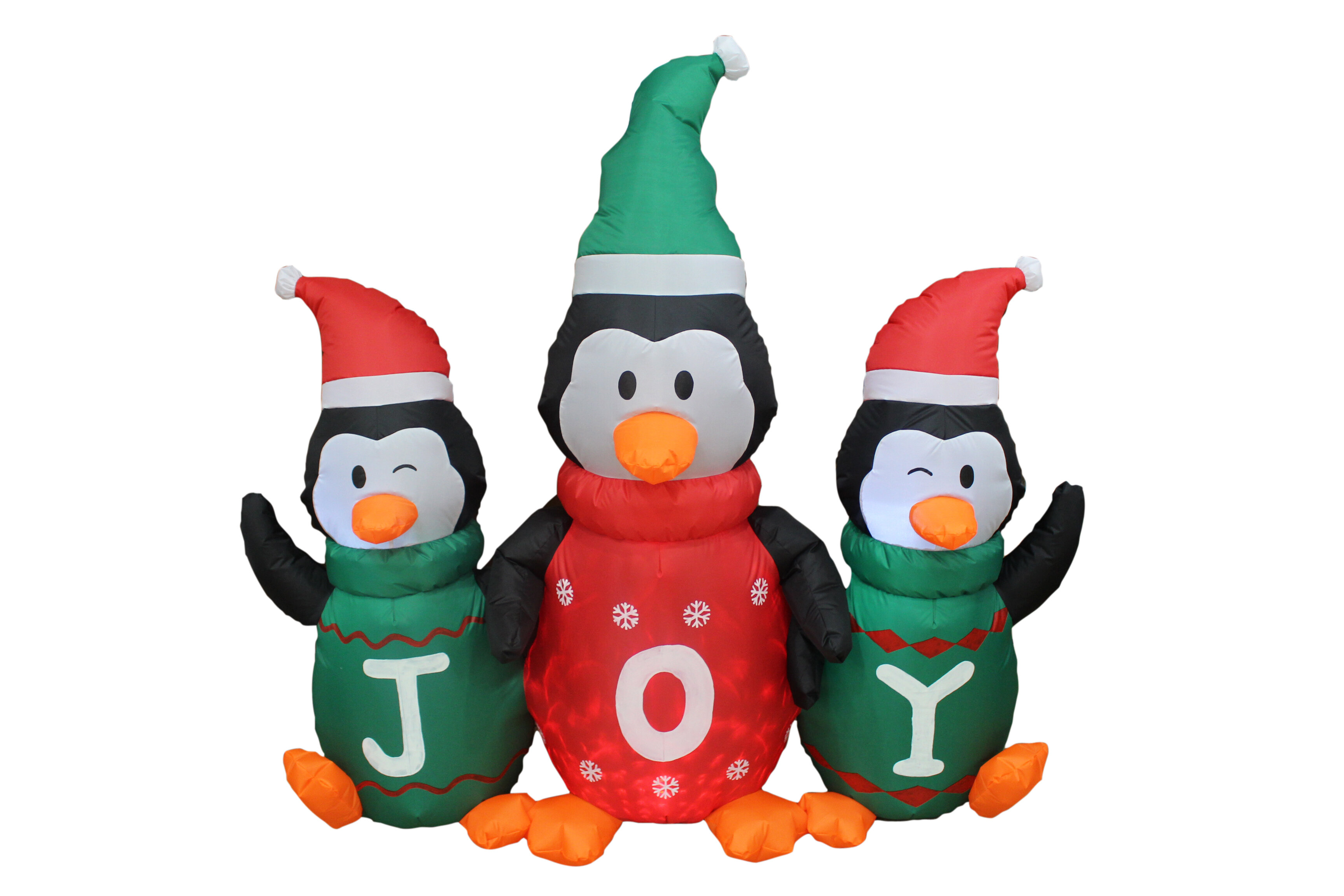 The Holiday Aisle Penguin Family with Joy Christmas Inflatable ...