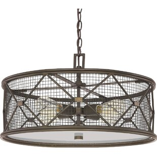 Laurel Foundry Modern Farmhouse Ashley 4-Light Drum Chandelier