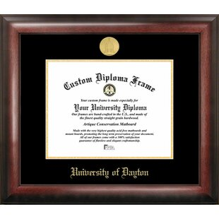 NCAA Dayton Flyers Gold Embossed Diploma Frame By Campus Images