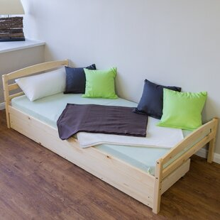 Newport European Single Bed Frame With Trundle By 17 Stories