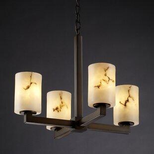 Brayden Studio Salina 4-Light Shaded Chan..