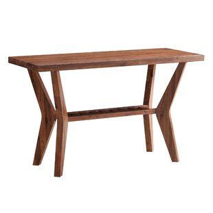 Vasili Wooden Console Table by Bungalow Rose No Copoun