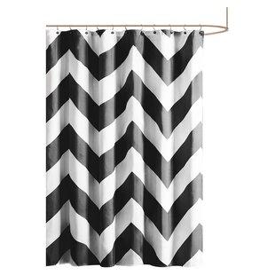 Black White Chevron Shower Curtain. Save to Idea Board  Black Chevron Shower Curtains You ll Love Wayfair